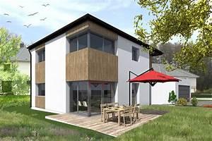 Vue 3d D U0026 39 Une Maison Innov U0026 39 Habitat En Ossature Bois  U00e0 Haute