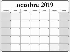 octobre 2019 calendrier imprimable calendrier gratuit