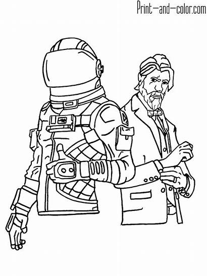 Fortnite Coloring Pages Printable Sheets Boys Royale
