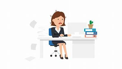 Stressed Stress Clipart Woman Svg Computer Being