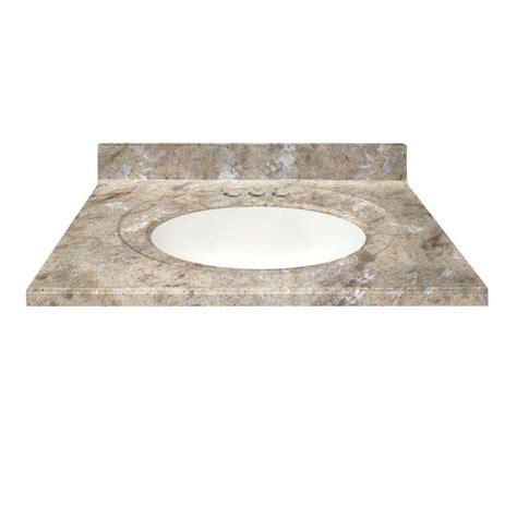 us marble 31 in cultured veined granite vanity top in