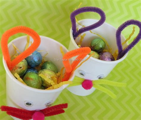 kids crafts easter bunny treat cup  taylor house