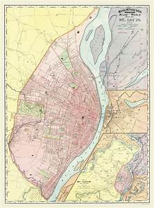 Historic City Maps | ST LOUIS & VICINITY MISSOURI AND ...
