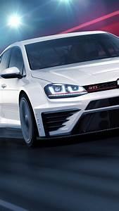 Wallpaper Volkswagen Golf GTI TCR, racecar, white, Cars
