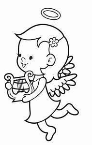 Vorlage Engel Zum Ausschneiden : ausmalbild engel kostenlose malvorlage engel mit harfe ~ Lizthompson.info Haus und Dekorationen