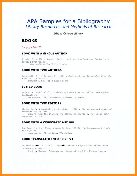 Apa Format Template Apa Annotated Bibliography Exle Template