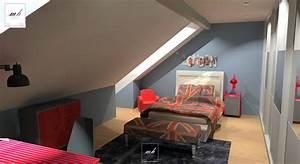 chambre en sous pente galerie et design peinture chambre With peinture chambre sous pente