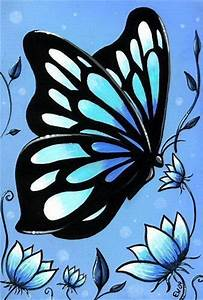 25 best ideas about butterfly painting on pinterest With best brand of paint for kitchen cabinets with wall art butterflies and flowers