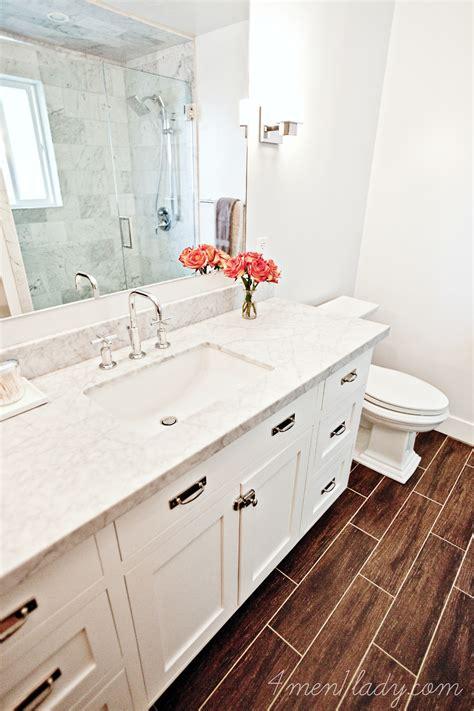 wood tile bathroom floor reviewing my own house ensuite bathroom part 2