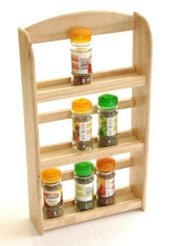 Wood Wall Spice Rack by 3 Tier Wood Wooden Herb Herbs Jar Holder Spice Rack Stand