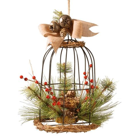 christmas bird cages home accents holiday pre lit gift boxes yard decor set of 3 ty187 1218 the home depot
