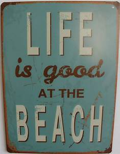 Cm life is good at the beach vintage sign wall decor