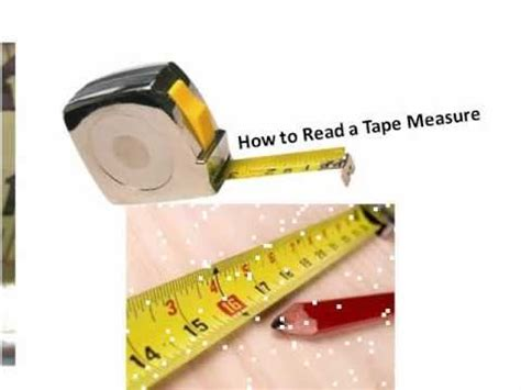 how to read a measure reading a tape measure youtube