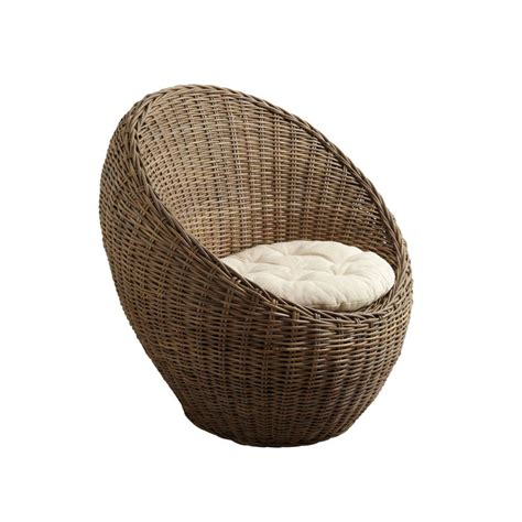 fauteuil de meditation en rotin fauteuil boule rotin epi image 1