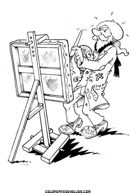 dibujo de  artista  colorear
