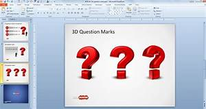 free 3d question mark template for powerpoint free With question and answer powerpoint template