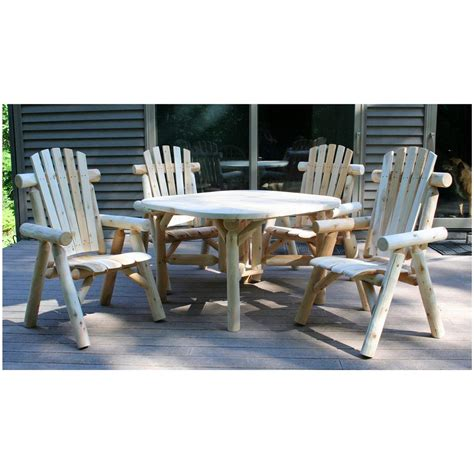 lakeland mills 47 quot roundabout table with four chairs