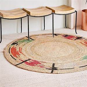 Tapis Rond Tressé : le tapis v g tal a la cote marie claire ~ Teatrodelosmanantiales.com Idées de Décoration