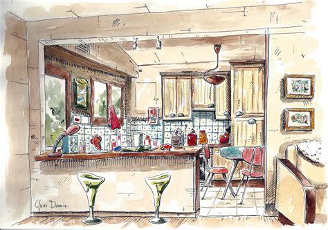 dessin animé de cuisine dessin aquarelles et dessins d 39 yves damin artiste