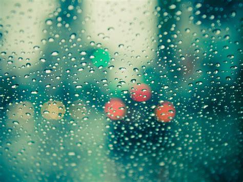 Rain Drops On Glass Wallpapers