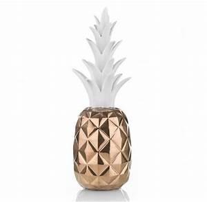 Ananas Deco Blanc : ananas d co cuivre et blanc design sur cdc design ~ Teatrodelosmanantiales.com Idées de Décoration