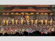 Thrissur Pooramannual Hindu temple festival Kerala