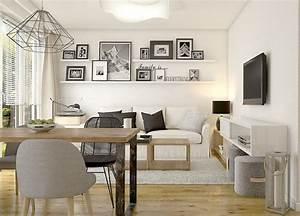 Sofas Für Kleine Wohnzimmer : kleines wohnzimmer mit essplatz in wei schwarz und holz interior pinterest kleine ~ Sanjose-hotels-ca.com Haus und Dekorationen