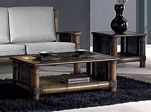Table Basse Rotin : table basse bambou rotin bois et verre tropicana wenge 4412 ~ Teatrodelosmanantiales.com Idées de Décoration