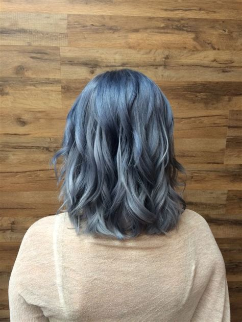 Best 25 Blue Grey Hair Ideas On Pinterest Silver Blue