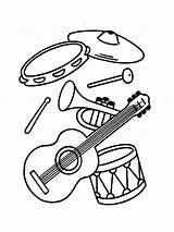 Coloring Instruments Instrument Musical Pages Printable Krokotak Tambourine Bright Choose Colors Favorite sketch template