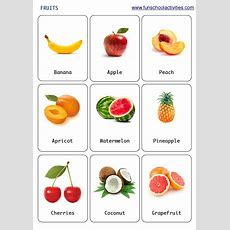 Printable Fruits Flashcards  Καρτες για ανάπτυξη λεξιλογιου  Learn English Kid, Food