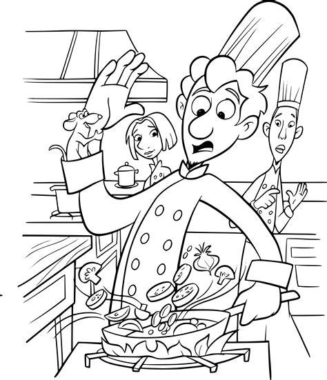 cuisine pour noel coloriage ratatouille disney dessin à imprimer sur