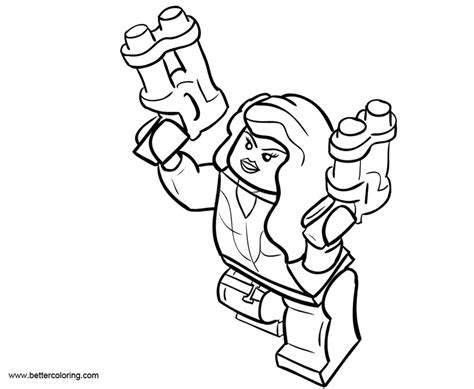 Coloring Pages Black Widow by Lego Black Widow Coloring Pages Black And White Free