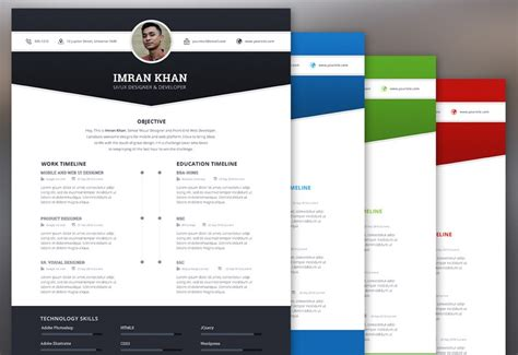 Color On Resume Reddit by 40 Freebies Goodies For Web Designers August 2015 Hongkiat