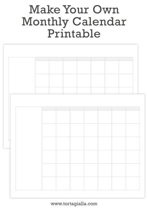 printable monthly calendar monthly