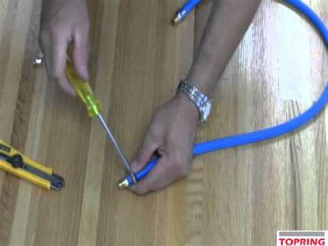 repair  damaged air hose youtube