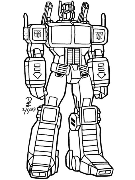robot coloring pages    print