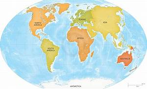 Image Gallery large world maps continents