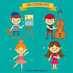 Talented children collection Vector | Free Download