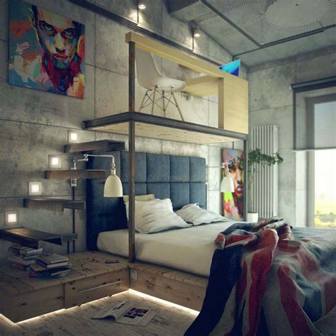industrial small bedroom ideas 35 edgy industrial style bedrooms creating a statement Industrial Small Bedroom Ideas