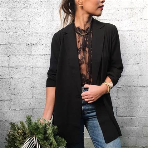 shirt unter blazer try a sheer lace blouse a blazer for your shirt
