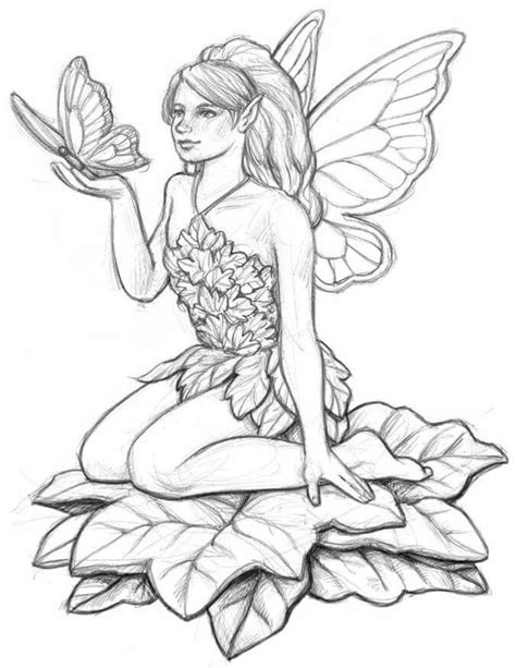 Pin by Dawn Royse on Adult coloring Fairy coloring pages