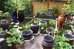 wasserkeramik vasen und kruge mit gfk becken With französischer balkon mit garten steinskulpturen granit elefant