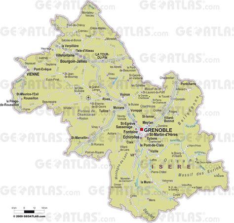 Carte Département Ville by Carte De L Is 232 Re Is 232 Re Carte Du D 233 Partement 38 Villes