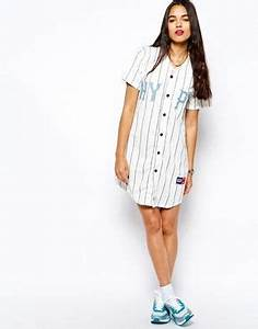 button up dress button up and baseball on pinterest With robe baseball femme