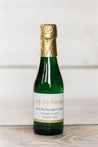 bachelorette party mini champagne bottle custom by beckonjoy With custom mini champagne bottles