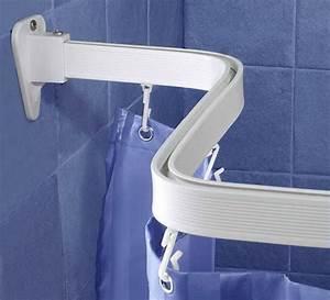 Duschvorhang Halterung Ohne Bohren : duschvorhangschiene flexible gardinenschiene weiss ~ Michelbontemps.com Haus und Dekorationen