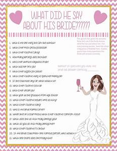 bridal shower game how well does the groom know the bride With wedding shower for groom