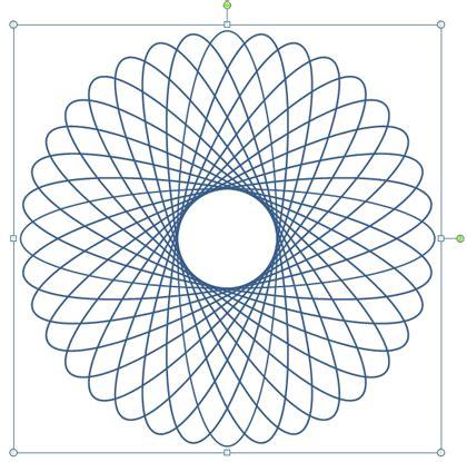 shapes illustrator   create  spirograph