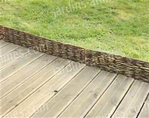 Bache Separation Jardin : bordure pliable rotin osier 95cm en acier bordure de jardin ~ Premium-room.com Idées de Décoration